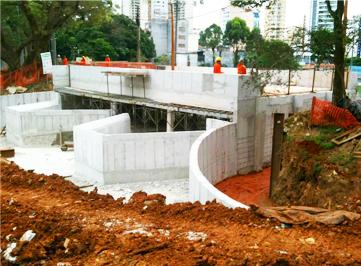 Canalização e implantação de reservatório na Bacia do Córrego Aclimação/Pedra Azul, São Paulo.