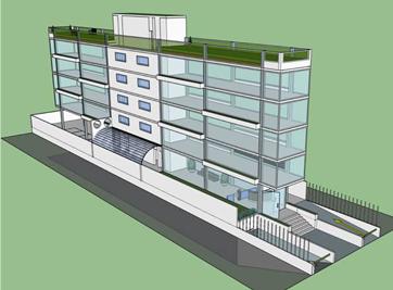 Proyecto y construcción de edificio comercial en el distrito Aclimaçao, en Sao Paulo, SP.