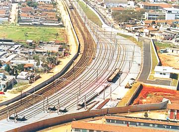 Obra metroferroviaria do Pátio Guaianazes feita para a CBTU pela TELAR